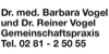 Kundenlogo von Vogel Reiner Dr. Internist Chirotherapie,  Vogel Barbara Dr. Naturheilverfahren