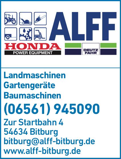 Anzeige ALFF Friedrich Landmaschinen Inh. Helmut Alff