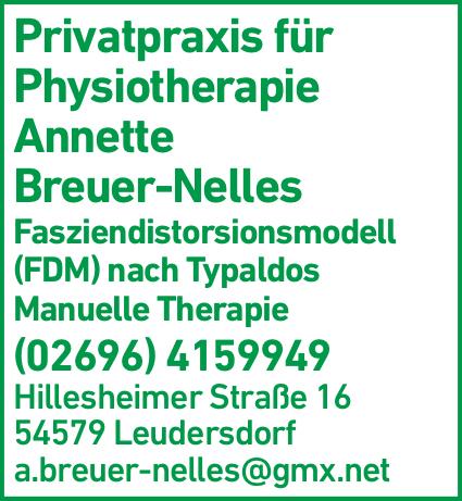 Anzeige Breuer-Nelles Annette Privatpraxis für Physiotherapie