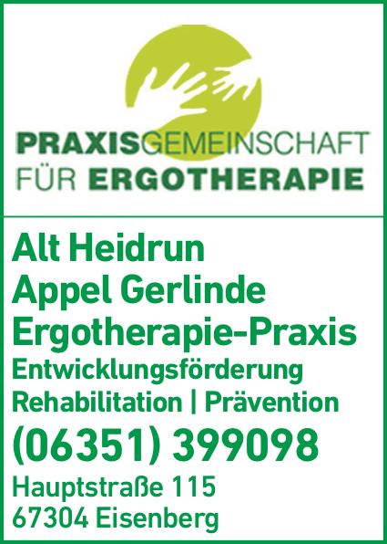 Anzeige Alt Heidrun, Appel Gerlinde Ergotherapeutische Praxis