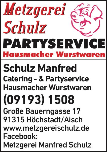 Anzeige Schulz Manfred Metzgerei