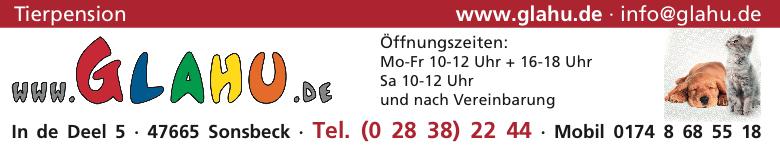 Anzeige Glahu Tierpension, Inh. Angela Bernhardt