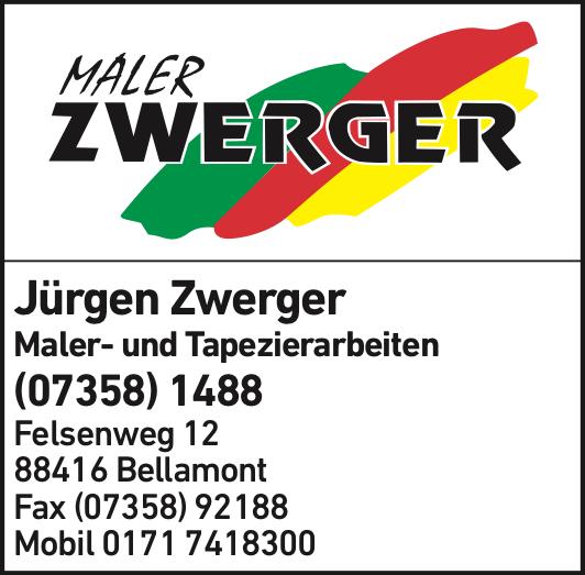 Anzeige Zwerger Jürgen Farben, Tapeten, Bodenbeläge