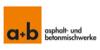 Kundenlogo von a+b Asphalt- und Betonmischwerke GmbH & Co. KG